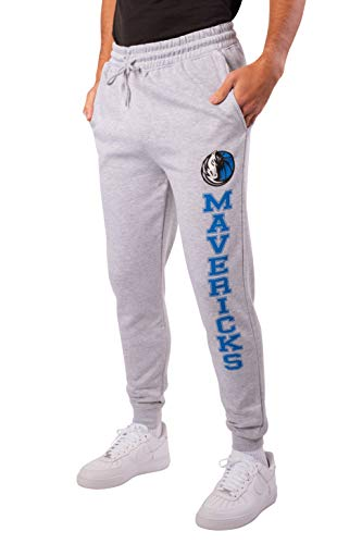 Ultra Game NBA Dallas Mavericks Mens Team Jogger Pants, Left Leg Logo, X-Large