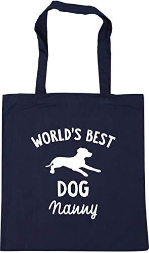 Hippowarehouse World's best dog nanny Tote Shopping Gym Beach Bag 42cm x38cm, 10 litres