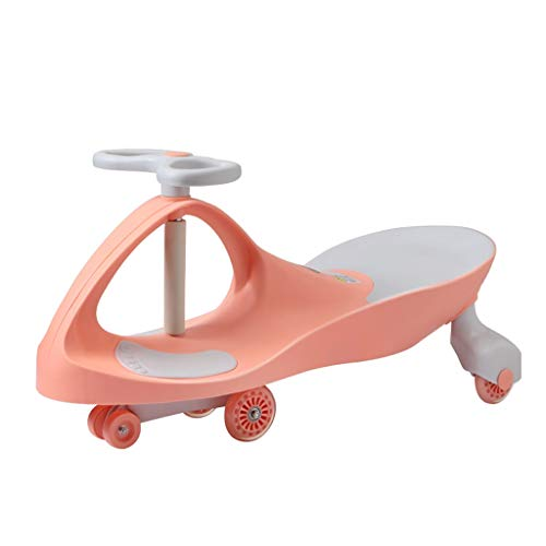 Voiture de Jouets pour Enfants Twist Flash Flash Mute Swing Wheel Scooter 3-6 Ans FANJIANI (Couleur : Cherry Blossom Powder, Taille : Flash Wheel)