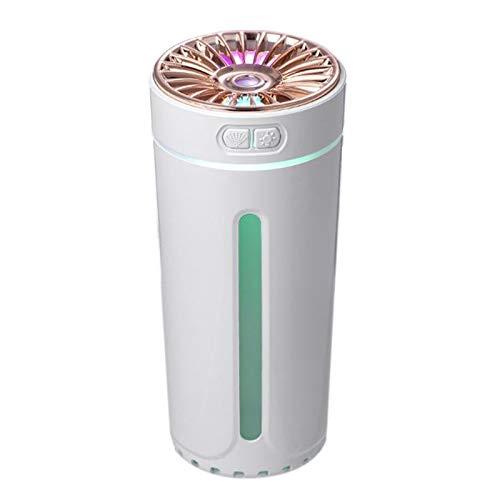 JVSISM Humidificador UltrasóNico para Coche de 300 Ml, Humidificador de Aire de Aromaterapia USB PortáTil para el Hogar, Adecuado para Oficina Casa, Color Blanco
