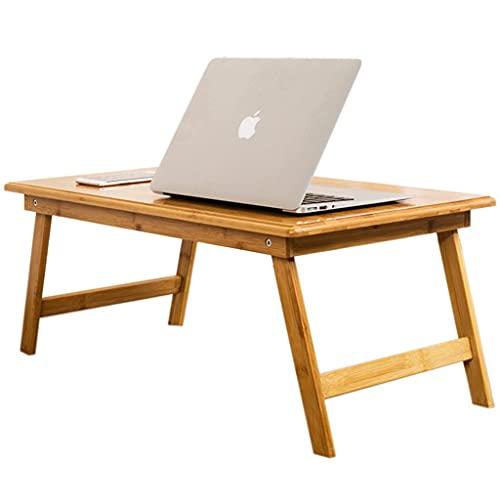 HFTD Mesa Plegable pequeña para Cama Servicio de Desayuno Plegable de bambú Bandeja de Cama Cama Escritorio para computadora portátil Bandeja para Cama para computadora portátil Mesa Escritorio d