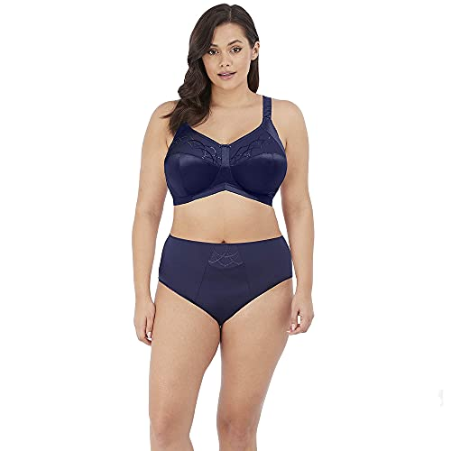 Elomi Women's Plus Size Cate Underwire Full Cup Banded Bra, Ink, 34JJ