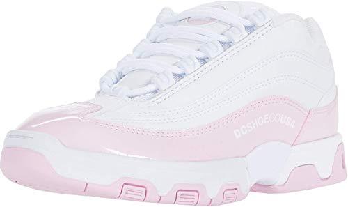DC Women's Legacy LITE SN Skate Shoe, White/Pink, 8 B M US