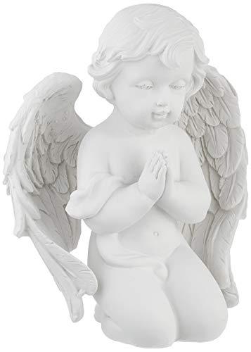 Pajoma 49161Figura de ángel rezando, tamaño pequeño, de resina, altura de 14cm
