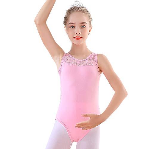 Soudittur Maillot de Ballet para Niña Sin Mangas Danza Clásico Body Leotardo...