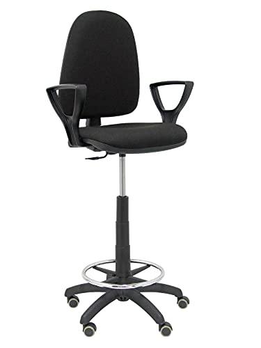 Piqueras Crespo e T04CP-Sgabello ergonomica, regolabile in altezza, anello parquet di ruote e poggiapiedi nero