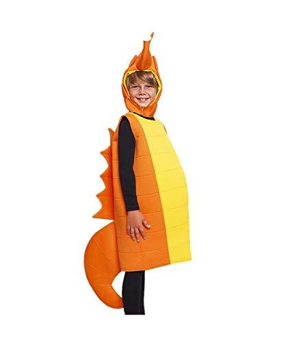 Disfraz Caballito de Mar Niño (Tallas Infantiles Unisex de 3 a 12 años) 【Talla 10-12 años】| Disfraz de Carnaval Original Niños Animales Marinos Fiesta