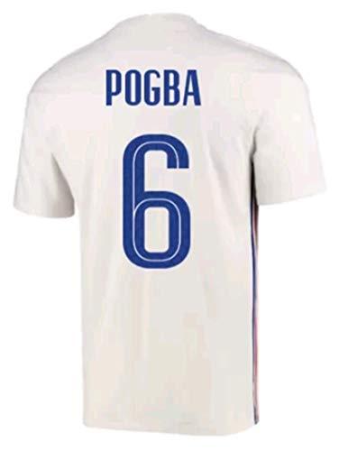 LISIMKEM 2020-2021 Men's Away Soccer Jersey/Short Colour White (France Pogba #6 (S))