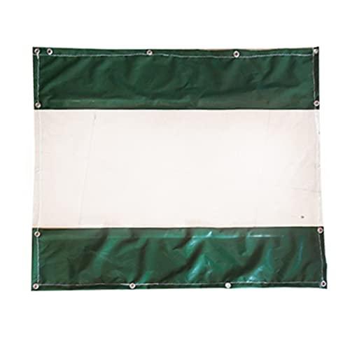 JLXJ Lona Alquitranada Cortina Al Aire Libre con Ventanas de PVC Transparente, Panel Lateral Impermeable de La Tienda del Patio, Partición Verde Paneles Laterales de Lona para Puerta