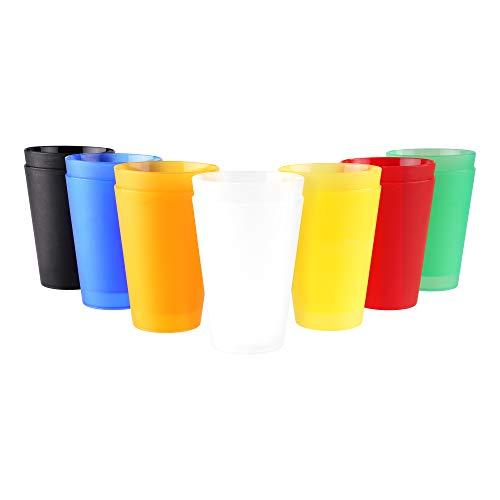 S&S-Shop 28 Plastik Trinkbecher 0,4 l - Mix Paket - Mehrwegtrinkbecher/Partybecher/Becher