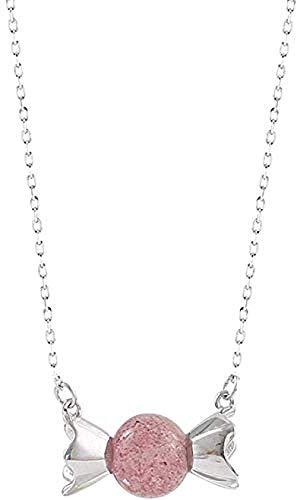 LKLFC Collar para Mujer, Collar con Colgante para Hombre, Collar Dulce de Fresa, Cadena de Llavero, Collar Femenino, Regalo para niñas y niños