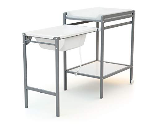 Ateliers T4 T3317 Table à Langer + Baignoire Gris