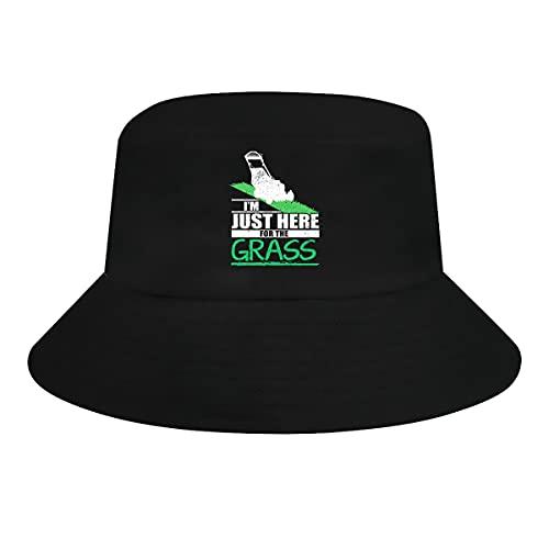 Ziixi Divertido Cortacésped Hierba Segadora Cubo Sombrero Hombres Mujeres Tamaño Grande Divertido Sol Sombreros Verano Cap Pesca Al Aire Libre Sombrero Negro