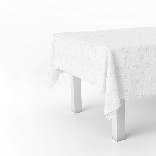 ORYX 5545500 Mantel Hule Muletón Beige Rectangular. Impermeable Antimanchas PVC 140 cm. x 20 Metros. Rollo Recortable. Interior y Exterior