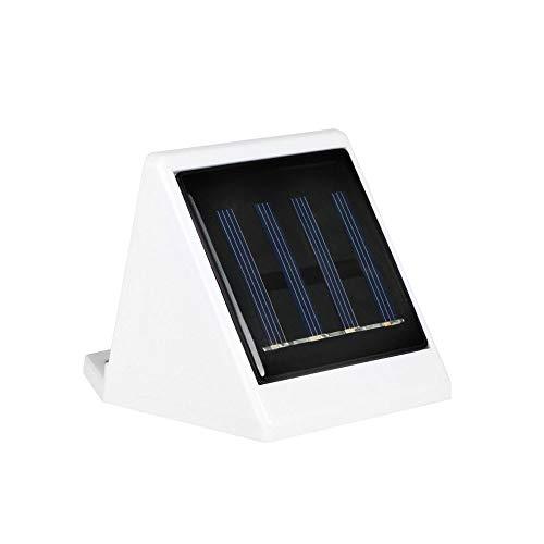 Wmdtr Lámpara solar de pared exterior con luz LED IP65, resistente al agua, lámpara de porche, lámpara de pared, moderna y sencilla, para patio residencial, porche, patio trasero, patio