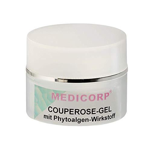 MEDICORP COUPEROSE-GEL, Hautcreme für Gesicht, Pflegende Feuchtigkeitscreme Ohne Parabene, Parrafine mit Sofort-Effekt gegen rote Äderchen im Gesicht (50ml)