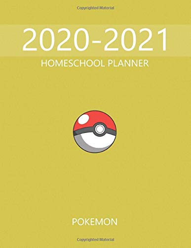 HomeSchool Planner Pokemon: Anime HomeSchool, Large Print, Pictures And Quotes, Pokemon Characters, Pikachu, Charmander, Bulbasaur, Jigglypuff, Eevee, Anime Series, This Will Be My Year