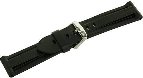 Morellato A01U2859198019CR24 - Cintura in plastica, Uomo MARINER Nero 24 mm