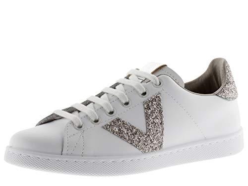 Victoria 1125188-WOMEN Sneaker Tennis Cuir DETAILLES Glitter Basses Femme Nude 37