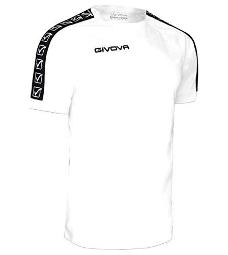Giosal T-Shirt Uomo GIVOVA Poly Band Bande Laterali Sport Sportiva Bianco-L