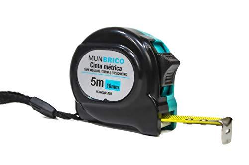 Flexómetro Profesional de Gran Calidad de 5 metros de longitud, de color azul, cinta métrica de 5 metros.