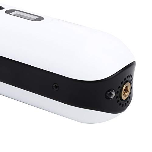 Bomba de bicicleta Inflador de neumáticos de bicicleta de amplio rango Pantalla digital inteligente con luz LED, para automóviles, bicicletas, bolas, inflación rápida(white, Pisa Leaning Tower Type)