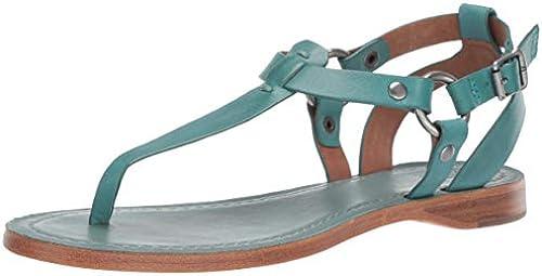 FRYE Damen Rachel Ring T-Strap Flache Sandale