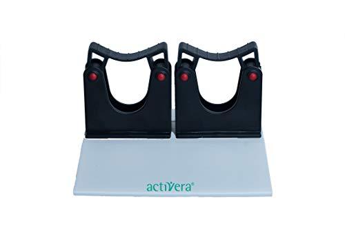 activera® Gehstützenhalterung Klemmprofil mit 2 Toolflex Halter für die Aufnahme von 2 Unterarmgehstützen mit D=20-30 mm