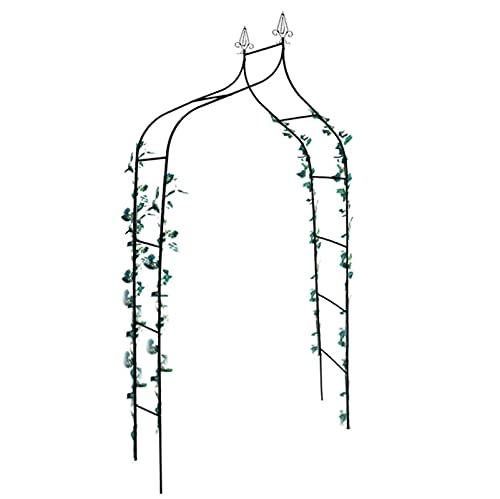 GAOXQ Soporte de Flores Arco de Hierro Forjado Clematis Rose Escalada Pérgola Boda al Aire Libre Decoración de Vacaciones Arco de jardín 260x140x38