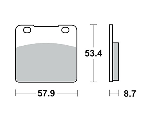 Garnitures de frein TRW MCB 542 pour SUZUKI VL 1500 C 1500 Intruder WVAL 98-01 (arrière)