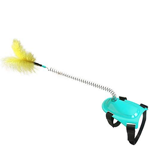 Bomoya Katzenspielzeug mit Federn, Haustier-Favorit-Frühlingsspielzeug, interaktiv mit Menschen und Kindern