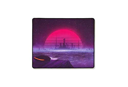 MouseOne Thasis - Standard-Length Gaming Mouse Pad - Retrowave Edition - Cloth with Stitched Edges - 15.7in H x 19.7in L