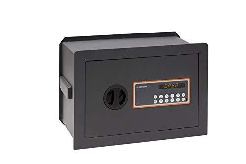 Arregui Plus C Electrónica 181140 Caja fuerte de empotrar, 10+3 mm de espesor, apertura electrónica, con fondo regulable, 27x38,5x20 a 30 mm, 11 a 19 L