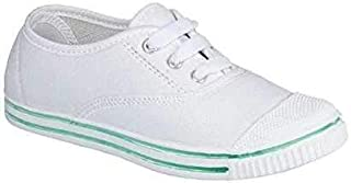 DRG Girls & Boys School Shoes (White)