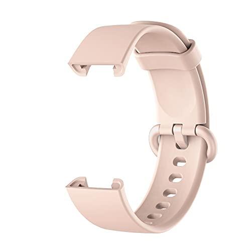 DALIANMAO Muñeca de reemplazo para MI Watch Lite/Redmi Watch Lite, Silicone Smart Watch Muñequeras, Correas de Reloj Ajustables (Band Color : Pink)