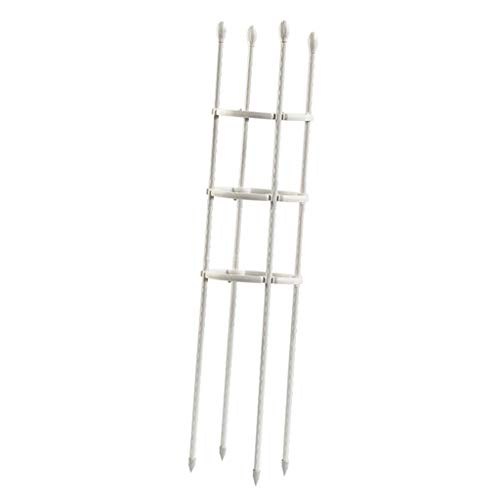 FLAMEER Plant Support Vegetables Vine Climbing - White, 20x60cm