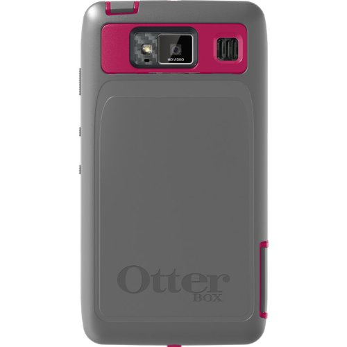 OtterBox DROID RAZR HD by Motorola Defender Series- Thermal(Pink/Gray)