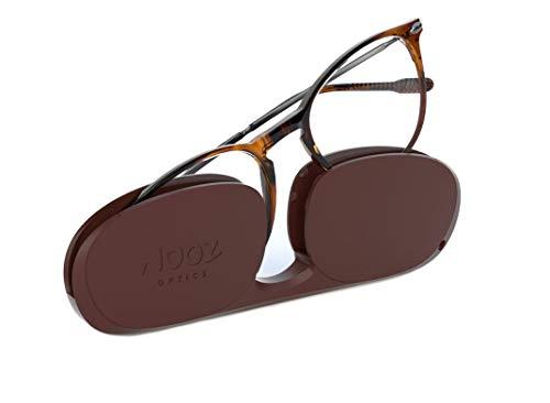 Nooz Optics - Blaulichtfilter brille ohne sehstärke Damen und Herren für Bildschirm, Smartphone, Gaming oder Fernsehen - Ovale Form - Tortoise Farbe - Alba Collection