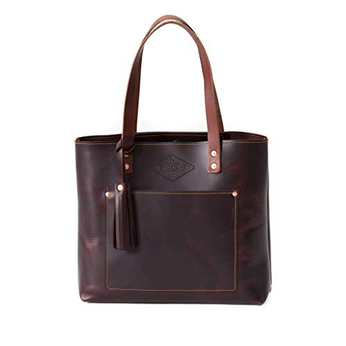 Deluxe Leather Tote Bag for Women, Leather Handbag, Leather Purse, Monogram Tote,...