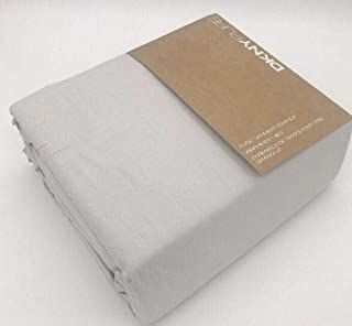 DKNY Pure Garment Washed Twin Sheet Set - Light Grey
