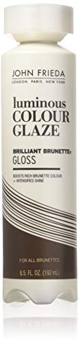 John Frieda Brilliant Brunette Luminous Glaze, 6.5 Ounce Colour Enhancing Glaze, Designed to Fill...