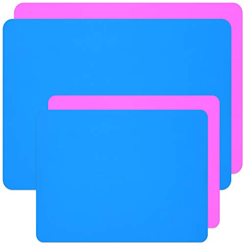 Coopay 4 Pieces A3 A4 Extra Large Silicone Sheet Silicone Mats for Crafts Resin...