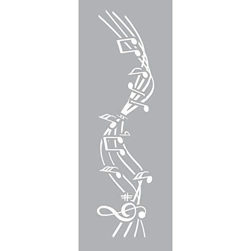 GRAINE CREATIVE 226003 Pochoir Décor 15 x 40 Musique, Plastique, Gris, 15,5 x 0,1 x 47,5 cm