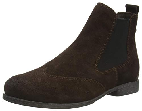 THINK! Damen AGRAT_3-000031 leder gefütterter, nachhaltiger Chelsea-Boots, 3010 Mocca