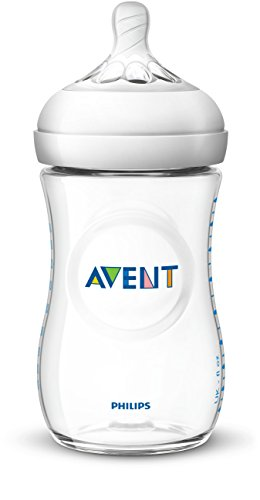 Philips AVENT Natural Baby Bottle, Clear, 9 Oz