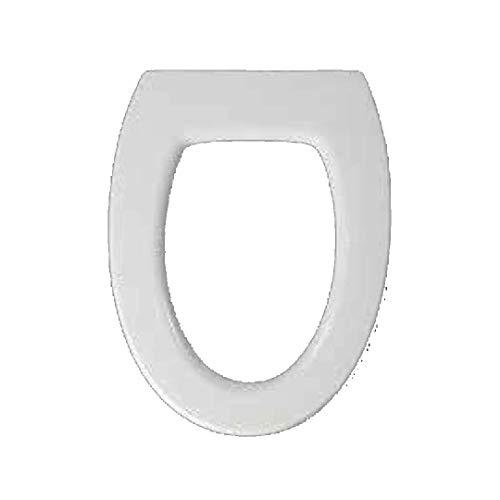 Copriwater dedicato per Serie Ovo Disegno Ceramica in Resina Poliestere colata Bianco Lucido - Coperchio Sedile tavoletta per WC - Massima qualita' Garantita