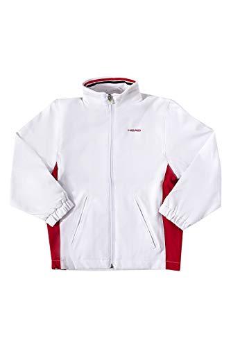 Head Jungen Tennisjacke Hartley JR All Season Jacket weiß / rot Gr. 164