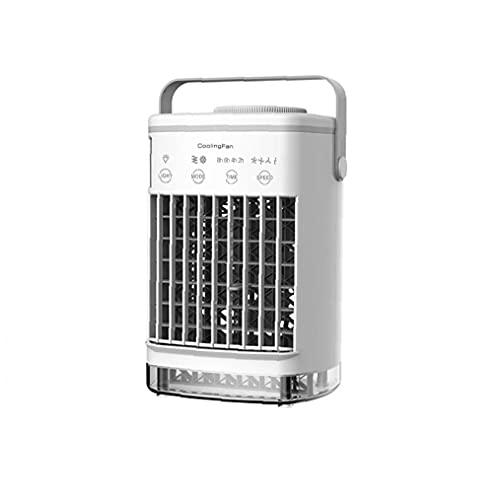 SouiWuzi Mini acondicionador de Aire portátil USB Desktop Air Cooler Humidificador Purifier Ventilador (sin Adaptador), Aire Acondicionado para habitación