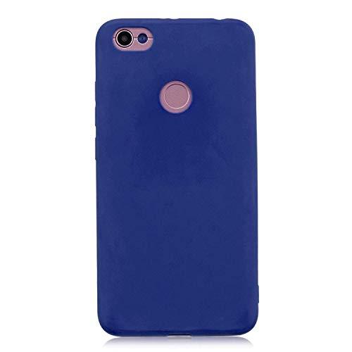 cuzz Funda para Xiaomi Redmi Note 5A+{Protector de Pantalla de Vidrio Templado} Carcasa Silicona Suave Gel Rasguño y Resistente Teléfono Móvil Cover-Azul Oscuro