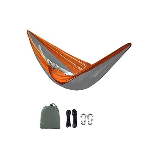 Amaca da Campeggio per Viaggi Campeggio Giardino, Ultraleggeri Attrezzatura da Campeggio Giardino al Coperto Zaino in Spalla Spiaggia da Viaggio Hammock Bambini Balcone (Arancia, 230x90cm)